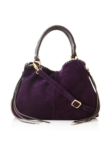 Linea Pelle Women's Willow Native Tote with Cross-Body (Plum)