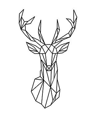 Ambiance Sticker Wandtattoo Deer Head Origami Style