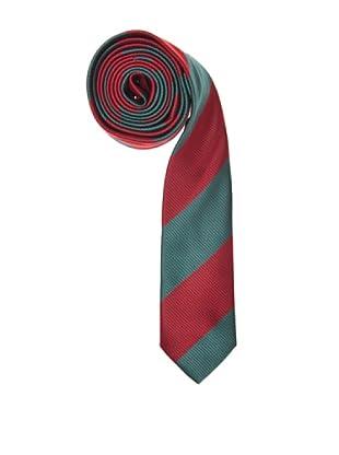 El Ganso Corbata Estrecha Rayas (Rojo / Verde)