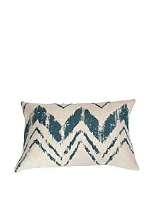 Filling Spaces Hand-Printed Ikat Stroke Pillow, Olive
