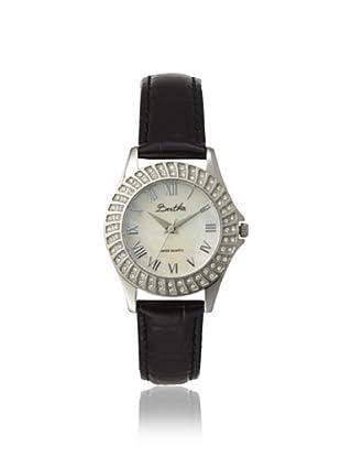 Bertha Women's BTHBR701 Audrey Black/White Leather Watch