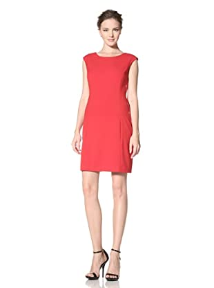 Calvin Klein Women's Cap Sleeve Solid Dress (Red)