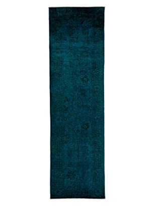 Darya Rugs Ziegler One of a Kind Rug, Blue, 4' x 13' 7