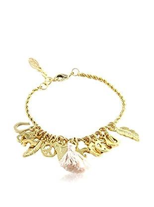 Ettika 18K Gold-Plated & Beige Charmed Life Bracelet