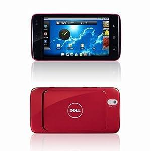【クリックで詳細表示】Dell Softbank 001DL チェリーレッド 白ロム 携帯 DELL Streak: 家電・カメラ