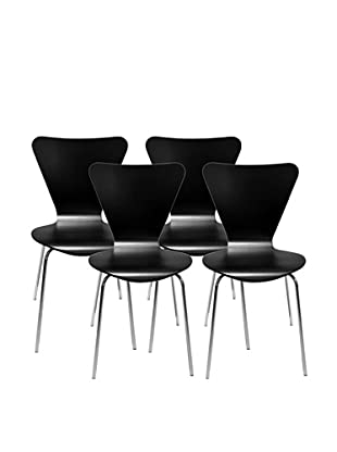 Aeon Set of 4 Lexi Bentwood Chairs, Black