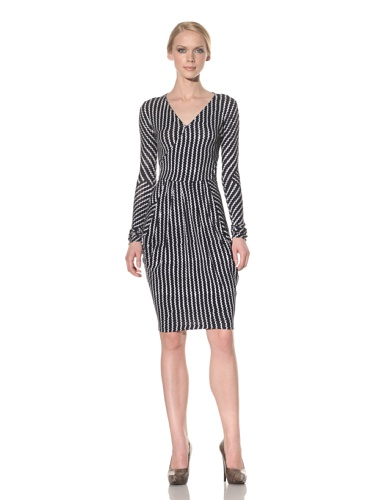 Rachel Roy Women's Wrap Dress (Deep Sea Multi)