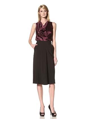 L'WREN SCOTT Women's Crepe Skirt (Black)