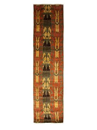 Darya Rugs Ikat Oriental Rug, Olive, 2' 6