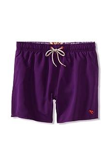 Ted Baker Men's Shortty Swim Trunk (Purple)