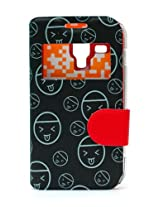 Fonokase Case for Samsung Galaxy S DUOS & DUOS 2 Fancy Flip Type Black Color