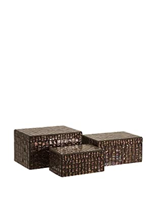 Set of 3 Orchid Mosaic Boxes