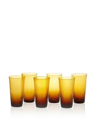 Impulse! Set of 6 Roma Highball Glasses (Amber)