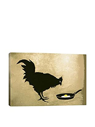 Banksy Chicken & Egg Gallery Wrapped Canvas Print