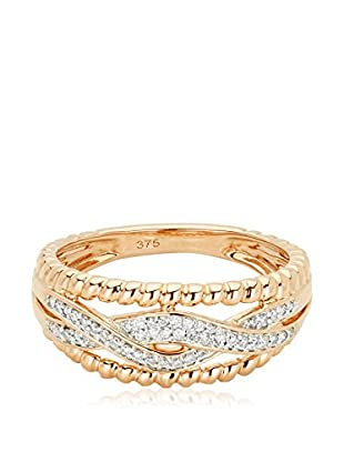 Bentelli Anillo 9K Gold 0.13Ct Diamonds