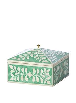 Bethel International Bone Inlaid Box, Green