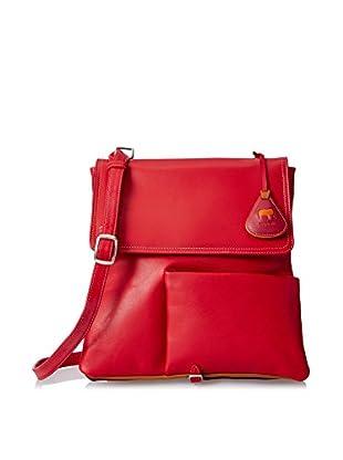 Mywalit Women's Med Flap V-Gusset Messenger/Backpack, Berry Blast