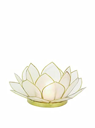 Torre & Tagus Lotus Capiz Shell Tealight Holder, Natural