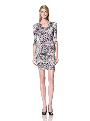 Marc New York Women's Printed Dress with Ruched Skirt (Multi)