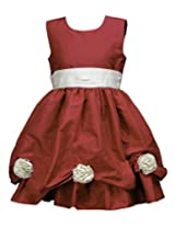 Peaches Girls' Dress (D-RWT_Red_12-13 Years)