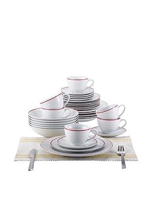Blaumann Vajilla 30 Piezas Porcelain Rojo