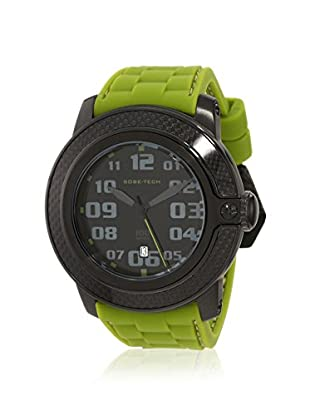 Glam Rock Men's GR33001 SoBe Black/Green Silicone Watch