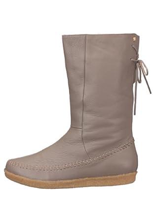 flip*flop 20501 - Botas de cuero para mujer (gris)