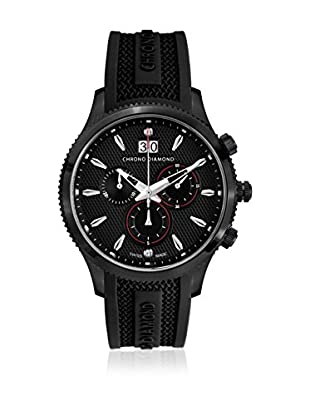 Chrono Diamond Reloj con movimiento cuarzo suizo Man 12000Dr Okeanos Negro 41.0 mm