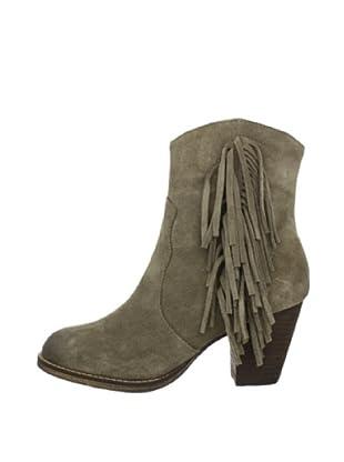 Buffalo London 412-0890 COW SUEDE 138828 - Botines fashion de cuero para mujer (Gris)