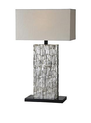 Santa Fe Table Lamp, Silver Leaf