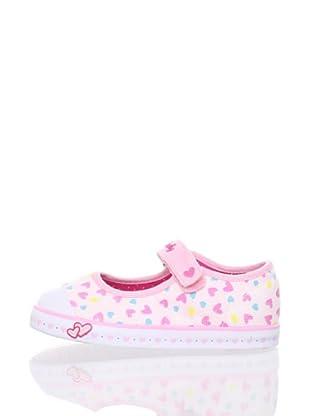 Pablosky Kid's Heart Print Sneaker (Pink)