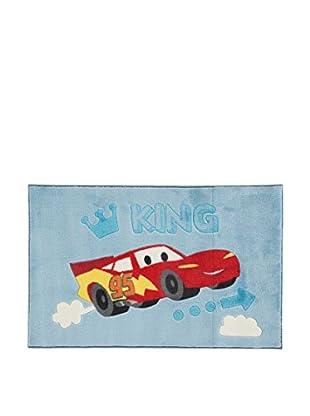 Abc Alfombra Disney Comfort Line Cars Baby Azul / Rojo 100 x 150 cm