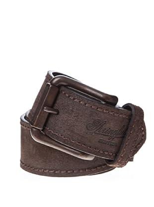 Springfield Cinturón Serraje Engrasado (marrón oscuro)