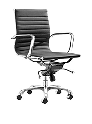 Manhattan Living Lider Office Chair Mid Back, Black