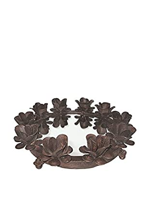 Go Home Round Flower Serving Tray
