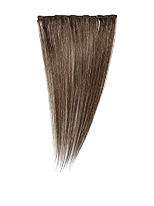 Love Hair Extensions Clip-In Haarverlängerung 100% Echthaar, Farbe 6 Dark Ash Brown
