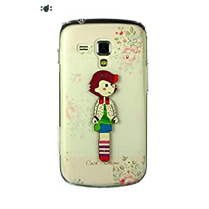 Dressmyphone Printed Back Cover with embossed design for Samsung Galaxy S Duos 2 S7582 (Design 8) - Multicolor