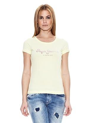 Pepe Jeans London Camiseta Rosi (Amarillo Claro)
