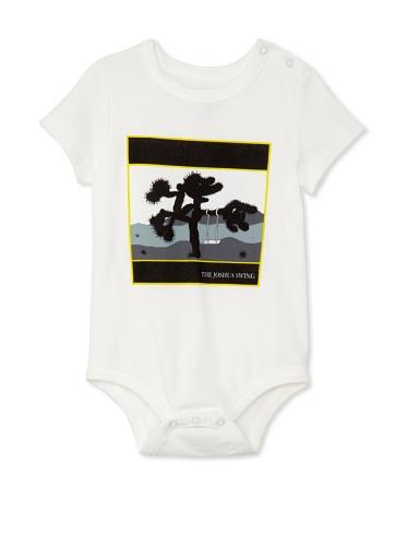 Lil Jokester Baby The Joshua Swing Short Sleeve Bodysuit (White)