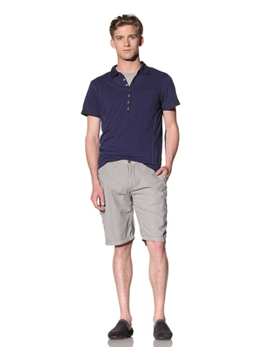 No Excess Men's Striped Cargo Short (Sand/Blue)