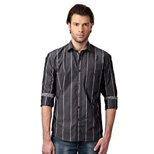 Louis Philippe Ultra Slim Fit Striped Shirt