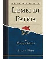 Lembi Di Patria (Classic Reprint)