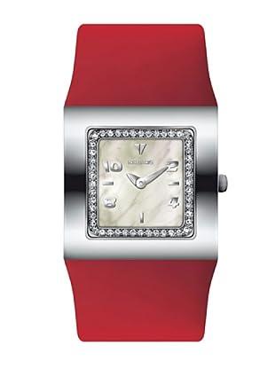 K&BROS 9153-3 / Reloj de Señora  con correa de piel rojo