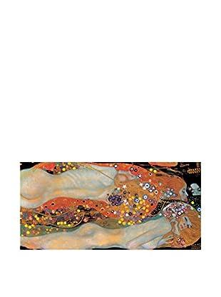 Artopweb Panel Decorativo Klimt Wasserschlangen 48x100 cm Bordo Nero
