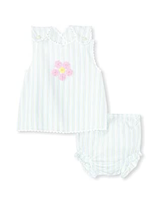 Bebe Mignon Baby Pink Flower Sundress with Bloomers (Beach)