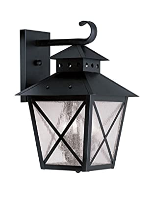 Crestwood Madelynn 3-Light Wall Lantern, Black
