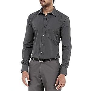 Genesis Black Striped Men Shirt - 11GCSH26173