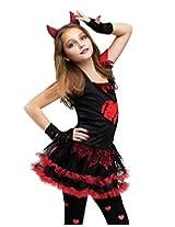 Fun World Devil Diva Girls Costume Red/Black Medium (8-10)