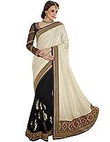 Sapphire Fashions Women's White Net Saree