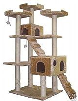 Go Pet Club Cat Tree, 50W x 26L x 72H, Beige